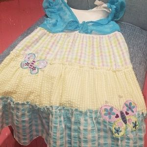 Girls size 7 (Youngland) butterfly sundress